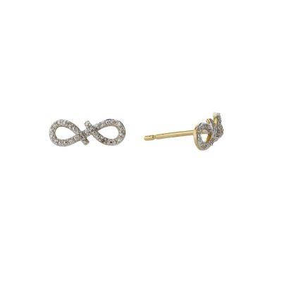 Earrings Diamond Encrusted Infinity Earrings