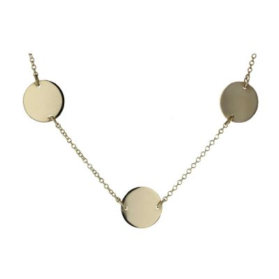 Gold Pendants 9ct. Yellow Gold Disc Pendant