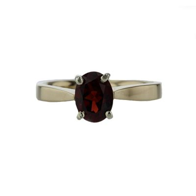Dress Rings 9ct. Yellow Gold Ring with Oval Garnet
