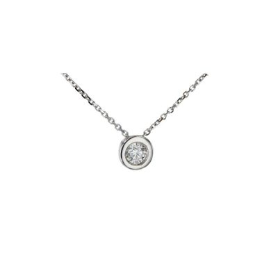 Gold Pendants 18ct White Gold Floating Diamond Pendant with 0.26ct Diamond