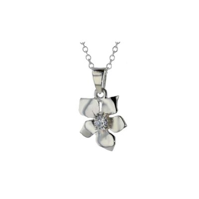 Burren Collection Sterling Silver Burren Pendant set with CZ