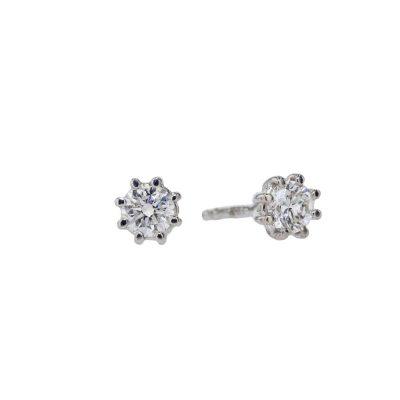 Earrings 0.20ct Diamond Earrings set in 18ct. White Gold