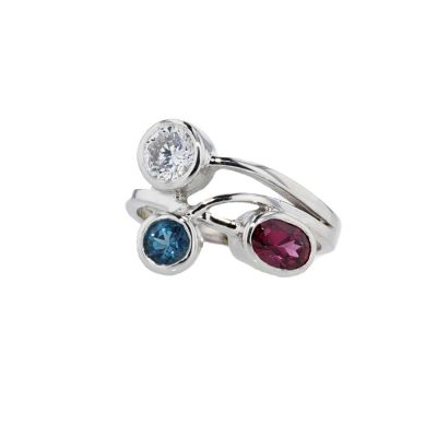 Dress Rings 9ct White Gold Birthstone/Gemstone Ring