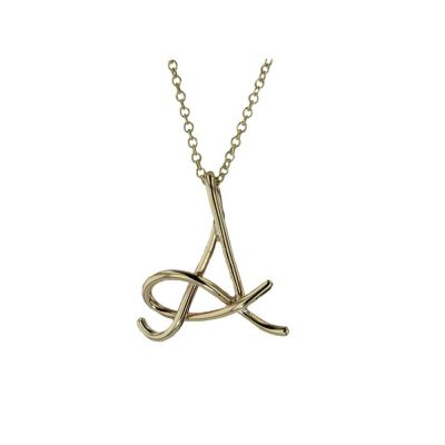 Gold Pendants 9ct Yellow Gold Initial Pendant