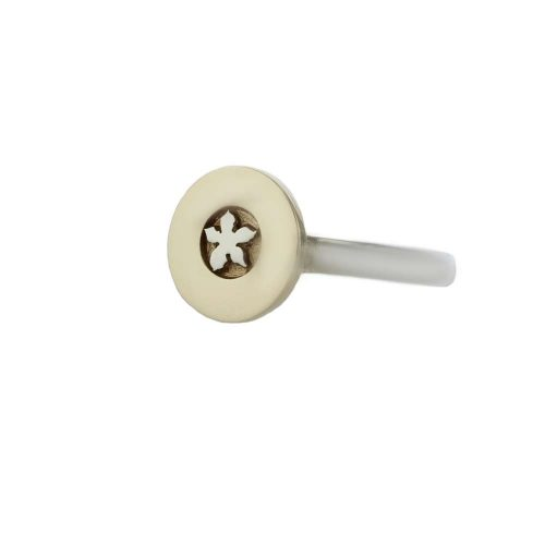 Burren Collection 9ct Yellow Gold and White Gold Burren Flower Ring