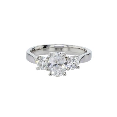 Engagement Rings Trilogy Platinum Diamond Ring