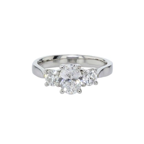 Engagement Rings Trilogy Platinum Diamond Ring