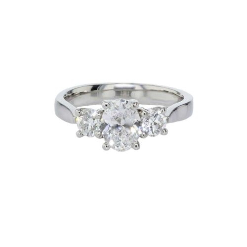 Engagement Rings Trilogy – 3 Stone Platinum Diamond Ring