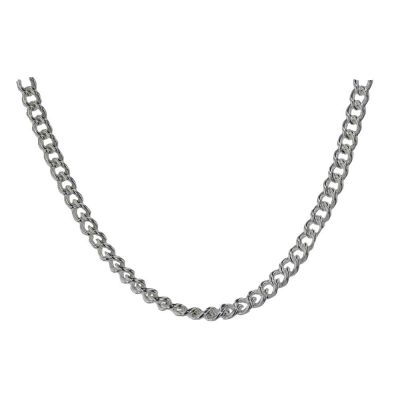 Gents Jewellery Flat Curb Sterling Silver Gents Chain