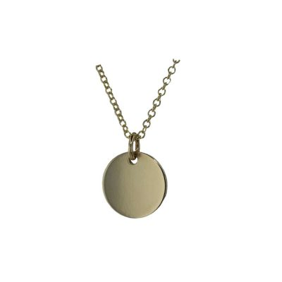Gold Pendants 9ct Yellow Gold Disc