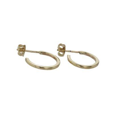 Earrings 9ct Yellow Gold Handmade Hoop Earrings