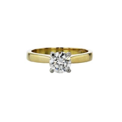 Diamond Rings 18ct Yellow Gold 0.80ct Solitaire Diamond Ring