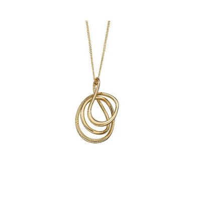 Gold Pendants 9ct Gold Wire Wrap Pendant