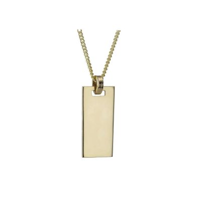 Gents Jewellery 9ct. Gold Gents Ogham Personalised Pendant