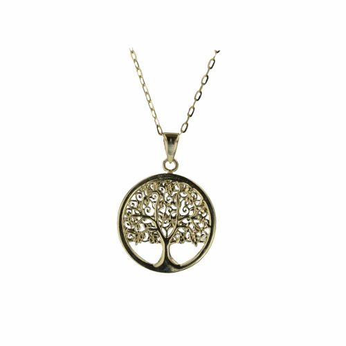 Gold Pendants 9ct Yellow Gold Tree of Life Pendant