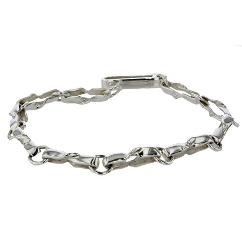 Jewellery Handmade Sterling Silver Twist Link Bracelet