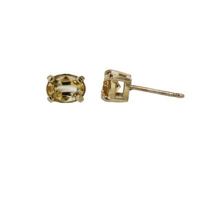 Earrings 9ct Yellow Gold Yellow Citrine Earrings