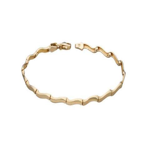 Jewellery 9ct Yellow Gold Wavy Link Bracelet