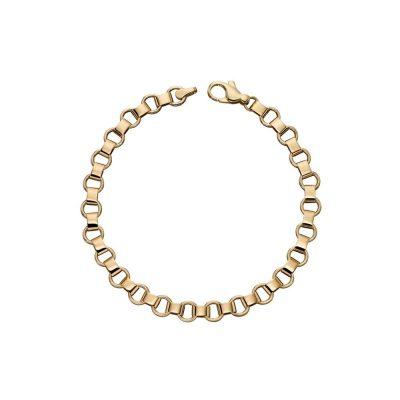 Bracelets 9ct Yellow Gold Circle Link Bracelet