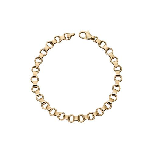 Jewellery 9ct Yellow Gold Circle Link Bracelet