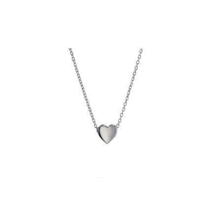 Gold Pendants 9ct Solid White Gold Floating Heart Pendant