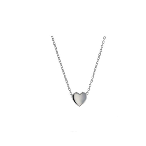Jewellery 9ct Solid White Gold Floating Heart Pendant