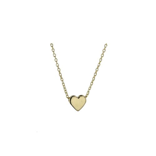 Jewellery 9ct Yellow Solid Gold Floating Heart Pendant
