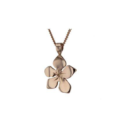 Burren Collection 9ct Rose Gold Burren Flower Pendant